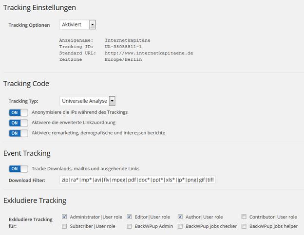 google analytics dashboard trackingcode