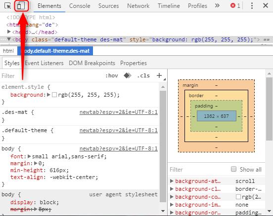Responsive Design Test Chrome