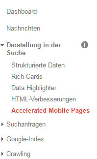 Accelerated Mobile Pages in der Google Search Console auswerten