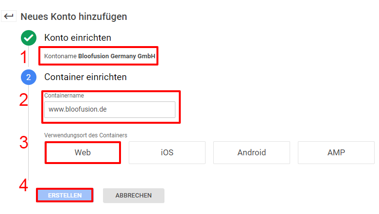 Login Prozess im Google Tag Manager