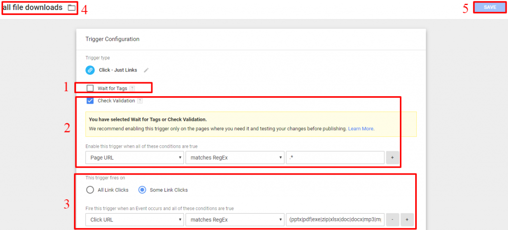 Google Tag Manager Download Trigger
