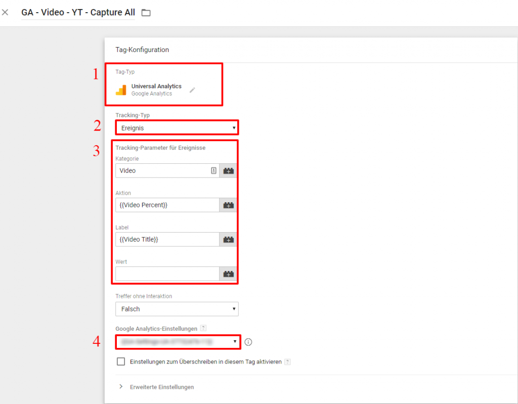 Google Tag Manager YouTube Video Tag