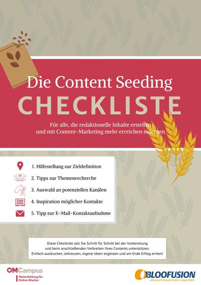 Checkliste Content Seeding Doanload-Link